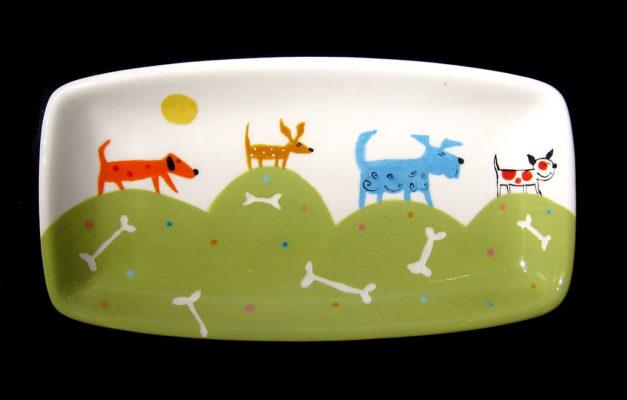 Dog Tray #1125 by Kathryn Blackmun