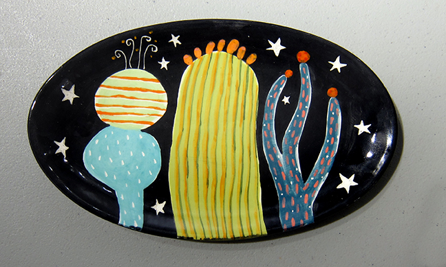 3 Cactus Oval #1126 by Kathryn Blackmun
