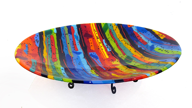 Sue Goldsand Lots of Color Bowl 17.5 diameter
