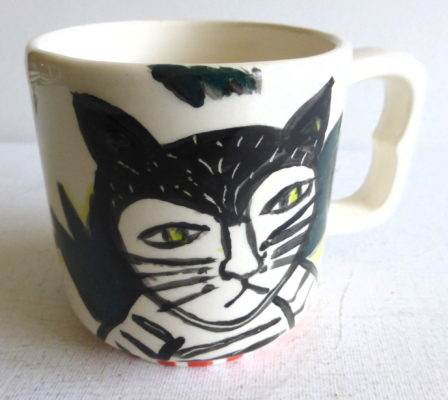 Cat Mug by Patricia Lazar