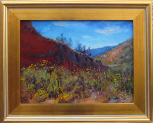 """Red Rock</em>James Swanson<br />17"""" x 21"""" by James Swanson17"""" x 21""""oil on linen"""