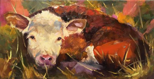 "Good Morning Sunshine</em>Sarah Webber<br />12"" x 24"" by Sarah Webber12"" x 24""oil on canvas"