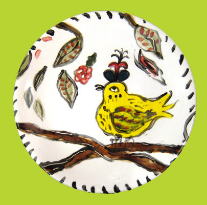 Yellow Bird Plate</em>Patricia Lazar<br / > by
